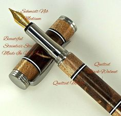Custom Wooden Pen Fountain Beautiful Quilted by MikesPenTurningZ, $199.00