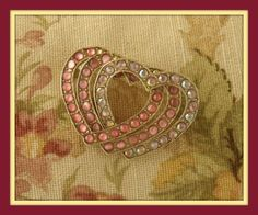 Vintage Liz Claiborne Pink AB and Cabochon by OutOfTimeAgain, $10.00 SOLD
