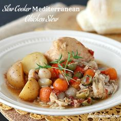 Hi everyone, I'm Mary Ellen from That's My Home. I am sharing a favorite recipe of mine for the Slow Cooker, a Mediterranean Chicken Stew