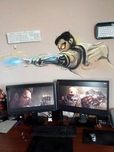 adam jensen deus ex wall painting 3
