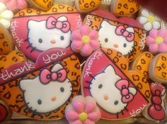 Hello Kitty Cookies Cupcake Cookies, Cupcakes, Hello Kitty Cookies, Hello Kitty Items, Cookie Bouquet, Cakepops, Animal Prints, Decorated Cookies, Girly Girl