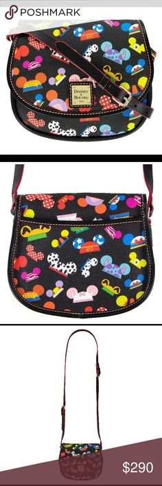 Disney I AM EAR HAT Dooney & Bourke Crossbody Tote •Coated cotton •Length: 4.3 inches, Width: 8.2 inches, Height: 7.15 inches •PLEASE NOTE: Each piece is unique. Specific pattern elements may vary. If you have a specific placement request, please message after purchase and I will do my best to find your request (I am willing to text photos of the purses available; however, perfect placement can not be guaranteed. ***PLEASE DO NOT LOW BALL ON PRICE. ****Looking for a specific item from Walt…
