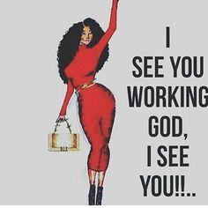 I see you God! I see you thank you Father God Black Love Art, Black Is Beautiful, Black Girl Art, Black Girl Quotes, Black Women Quotes, Spiritual Quotes, Positive Quotes, Religious Quotes, Positive Life