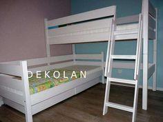 Nowe łóżko piętrowe narożne z szufladami białe producent Toruń - image 2