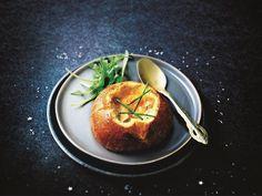 Oeufs cocotte au foie gras en brioches