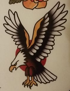 """Traditional/old school tattoo, Jeromey """"tilt"""" McCulloch, Ben Cheese, eagle"""