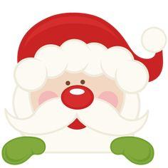 Peeking Santa SVG scrapbook cut file cute clipart files for silhouette cricut pazzles free svgs free svg cuts cute cut files