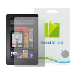 GreatShield Ultra Anti-Glare (Matte) Clear Screen Protector Film for Amazon Kindle Fire (3 Pack). -- 25% DISCOUNT for a limited time!- 3 Pack anti-glare clear hard coating premium screen protector film for the Amazon Kindle Fire  Can be removed and washed for reuse, leaves no residue  Perfect fit: precisely engineered to fit your device perfectly  Includes: GreatShield Screen Protector (3-Pack), Micro fiber cleaning cloth