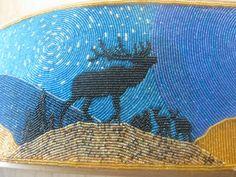 Stunning beadwork on show at Coeur d'Alene resort & casino hotel, Idaho