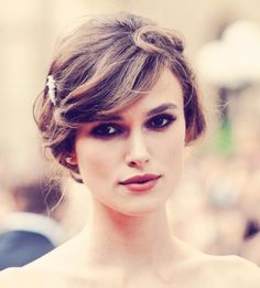 Keira, flawless makeup, blush lip.