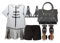 """Untitled #1918"" by stylebyteajaye ❤ liked on Polyvore featuring Mode, Steve J & Yoni P, La Perla, Balenciaga, Givenchy, Lost & Found, women's clothing, women's fashion, women und female"