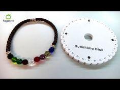 Collar Kumihimo con cuentas de cristal - Hogarutil