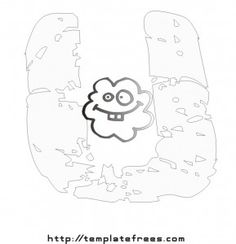 Free Coloring Pages With Polka Dots Letters