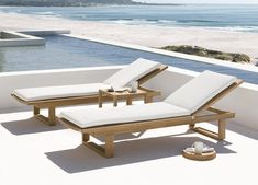 Teak Garden Furniture, Outdoor Furniture Design, Pool Furniture, Furniture Ideas, Furniture Layout, Contemporary Furniture, Furniture Makeover, Pool Lounge Chairs, Outdoor Chairs