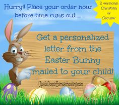 Personalized Letter from the Easter Bunny for your Child {Christian or Secular versions to choose from}