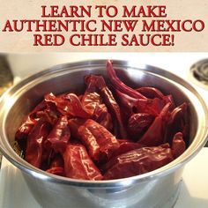 Learn to make authentic New Mexico Red Chile sauce! #NewMexico #RedChile