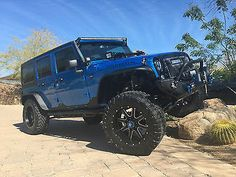 Custom Built Hydro Blue Jeep Wrangler Jk Unlimited Rubicon Lots Of ...