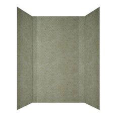 Herringbone Tile - Mirroflex - Tub and Shower Walls