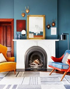 7 Blue Living Rooms That'll Inspire You to Embrace Color | MyDomaine