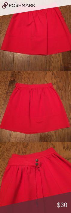 NWT Madewell skirt Brand new red skirt from Madewell Madewell Skirts Mini