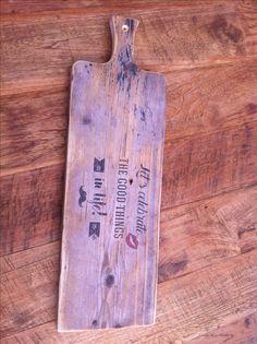 Leuk houten cadeau Borrelplank steigerhout