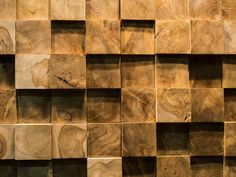 Wonder Wall created this panellings swirling pattern by cutting blocks from tree stumps.