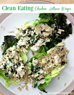 Clean Eating Chicken Lettuce Wraps- Healthy and Hearty Lunch or Dinner!  #ADayInMotherhood #healthy #dinner #lunch #wraps #lettuce