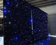 Starlight LED curtain with a controller, impress your guest with this stunning background effect. We all want the attention, so why not bring the stars. Galaxy Wedding, Starry Night Wedding, Blue Wedding, Dream Wedding, Blue Silver Weddings, Light Wedding, Prom Decor, Graduation Decorations, Wedding Decorations