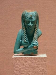 Upper part of a figure, probably Isis. Faience. Ptolemaic Period, c. 305 - 30…