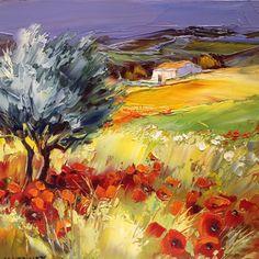 Michel Vezinet - Born in 1957 in Alès, Michel Vézinet began his art career . Pictures To Paint, Art Pictures, Abstract Landscape, Landscape Paintings, Oil Painting Abstract, Abstract Art, Watercolor Painting, Art Oil, Painting Inspiration