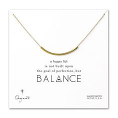balance curved tube necklace, gold dipped - Dogeared