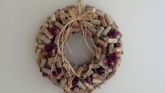Wine Cork Wreath by PamsWreaths on Etsy, $60.00