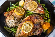 skillet chicken and asparagus- super easy and full of flavor!