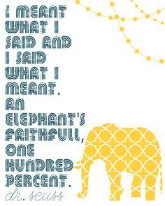 ELEPHANTS new room theme!