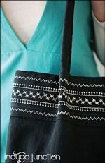 Stitched Top Tote sewing pattern from Indygo Junction