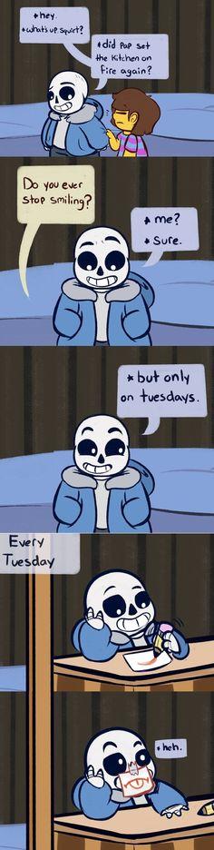 Undertale, sans' lazy tuesdays