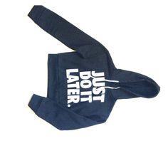 JUST DO IT LATER crop hoodie Black long sleeve hoodie Tops Sweatshirts & Hoodies