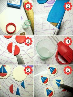 How To Make DIY Fondant Sailboat Cupcake Toppers - learn to make these red, white and blue nautical party cupcakes for your next celebration! Fondant Cupcakes, Fondant Toppers, Cupcake Cakes, Fondant Bow, Car Cakes, Fondant Flowers, Cake Icing, Nautical Cake, Nautical Party