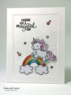 Stamp with Sandy: Magical Day, Be A Unicorn Stamp Set, Avery Elle