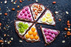 Roher Obstkuchen - Fruchtpizza
