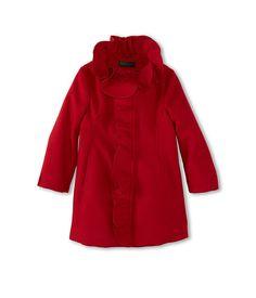 United Colors of Benetton Kids Girls' Wool Coat w/ Ruffle (Toddler/Little Kids/Big Kids)