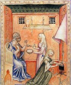 MINIATURIST, Italian Tacuinum sanitatis 1370-90 Manuscript (MS Lat. 1673) Bibliothèque Nationale, Paris