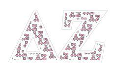 """Delta Zeta Mascot Greek Letter Sticker - 2.5"""" Tall Tall from GreekGear.com"""
