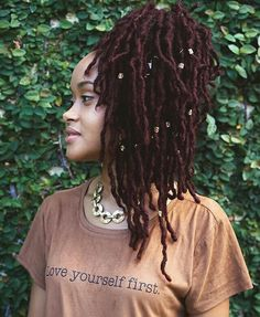 Healthy looking locs. Love the color!