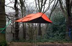 Tentsile Stingray tent can be strung up in trees. Would make an awesome transportable tiny treehouse.