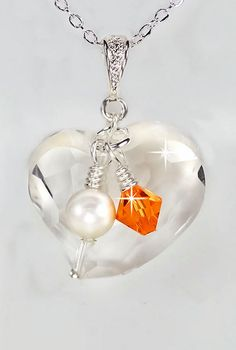 Multiple Sclerosis Awareness Necklace Crystal by PixieDustFineries