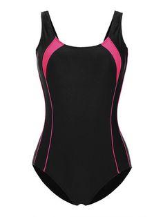 8d58a4b925574 Cross-Back Elastic High Cut Wireless Athletic Sports One Piece Swimwear