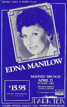 Another ad for Edna Manilow. This time Edna was at the Park Ten.