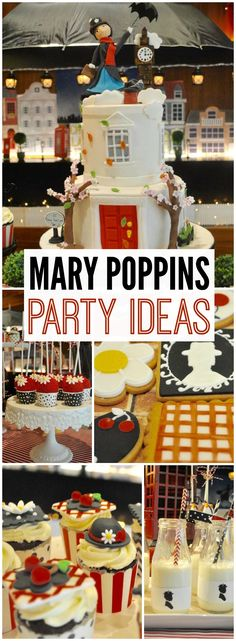 What an amazing Mary Poppins party with themed desserts! See more party ideas at CatchMyParty.com!