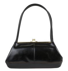 The Hobo Gina Kisslock Purse in Black is simple and sophisticated!